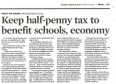 Editorial: Keep half-penny tax to benefit schools, economy